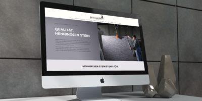 Mockup Webseite Henningsen Stein