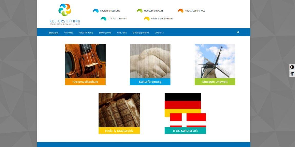 Screenshot Webseite Kulturstiftung