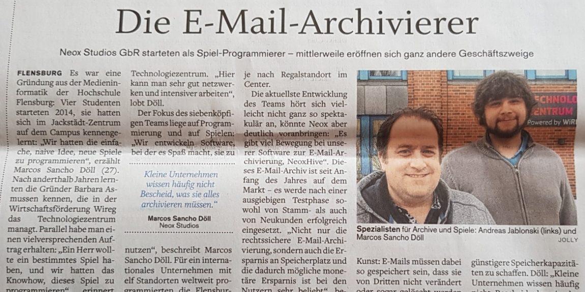 Zeitungsartikel Flensburger Tageblatt