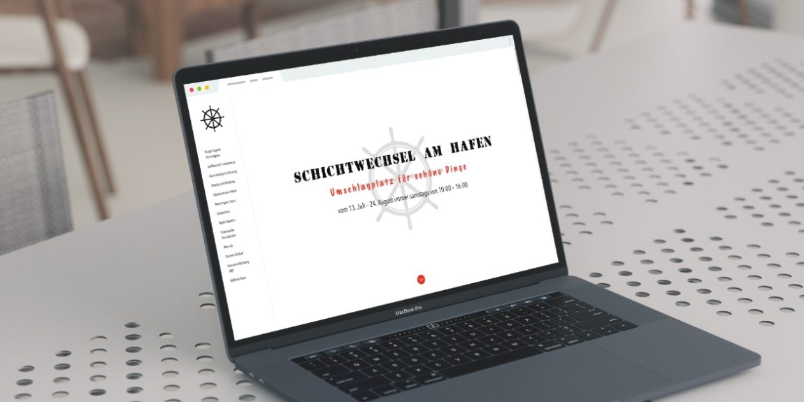 Mockup Webseite Schichtwechsel am Hafen