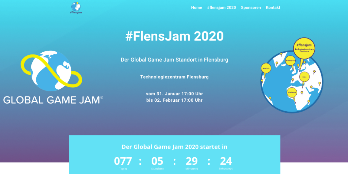 Screenshot Webseite FlensJam