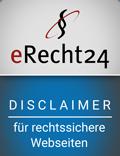 Logo eRecht24 Disclaimer
