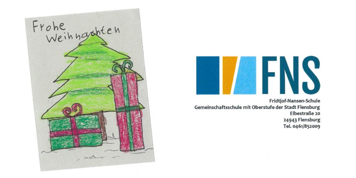 Weihnachtskarte von der FNS Flensburg