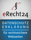 Logo eRecht24 Datenschutz