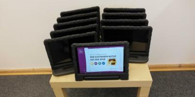 Tablets mit der App Sielmanns Schatzsuche