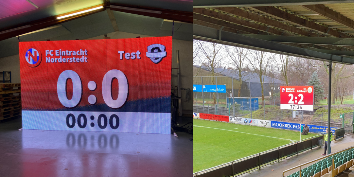 Digitale Anzeigetafel für Fußballvereine